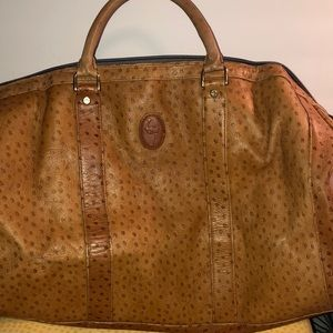Genuine Ostrich leather duffel
